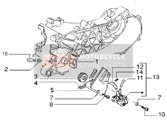 Gilera DNA GP Experience 2003 Oil pump for a 2003 Gilera DNA GP Experience