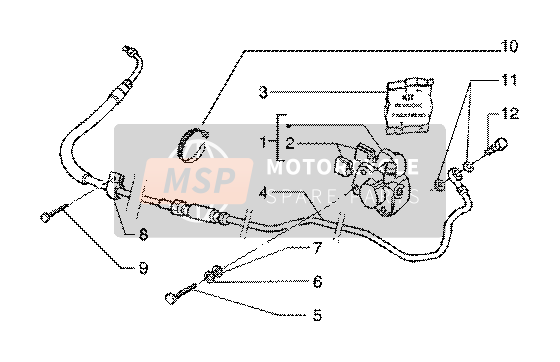 Caliper(vehicle wth rear hub brake)