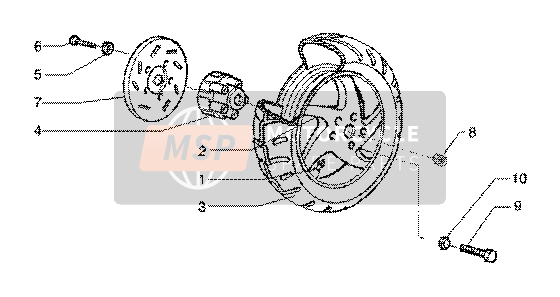 Rear wheel(vehicle withrear hub brake)
