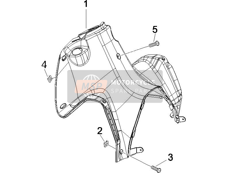 Front glove-box - Knee-guard panel