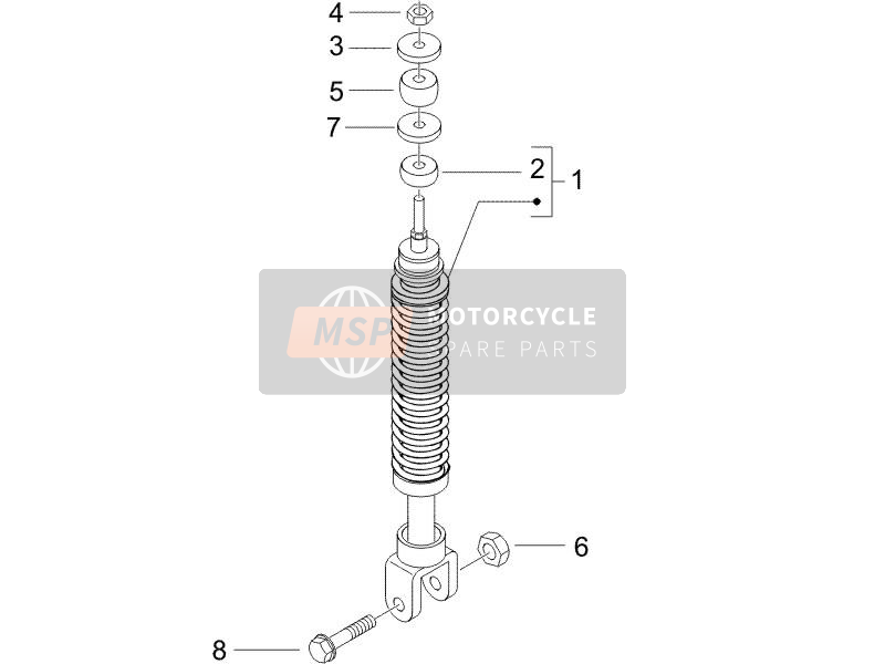 Rear suspension - Shock absorber/s