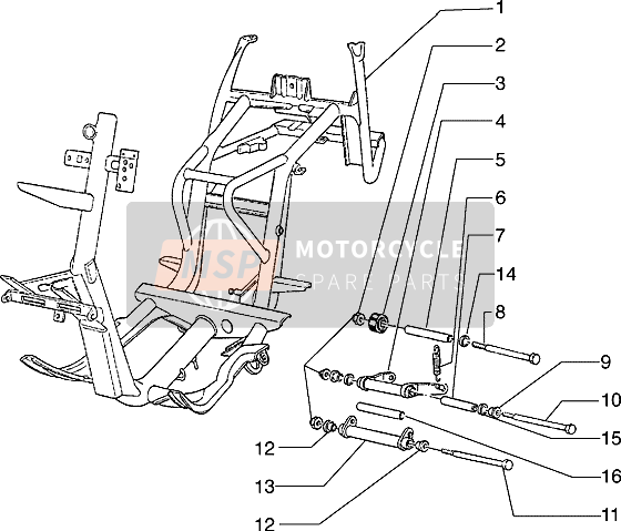 Chassis-Swingingarm-side stand