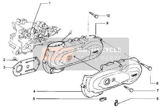 Crankcase cover, clutch side