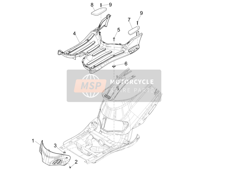 Central cover - Footrests (2)