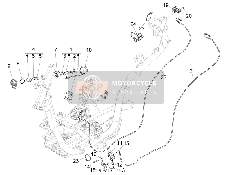 Piaggio Medley 150 4T ie ABS (EU) 2017 Locks for a 2017 Piaggio Medley 150 4T ie ABS (EU)