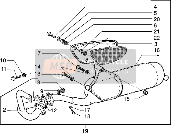 Catalytic silencer (Vehicle with rear drum brake)
