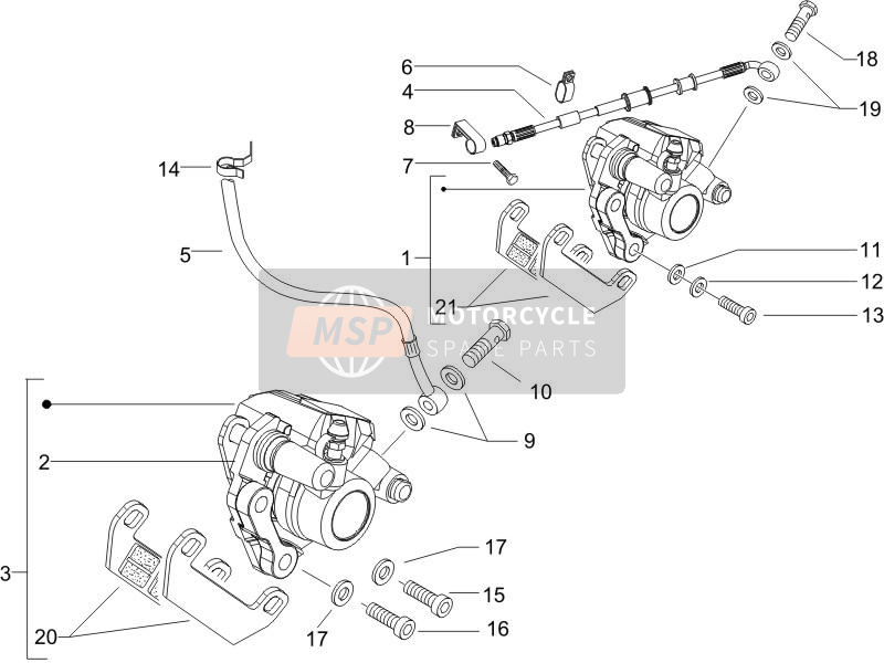 Brakes pipes - Calipers (2)