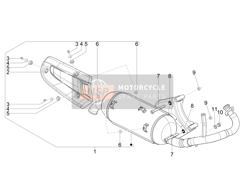 Piaggio NRG Power DT 2009 Silencer for a 2009 Piaggio NRG Power DT
