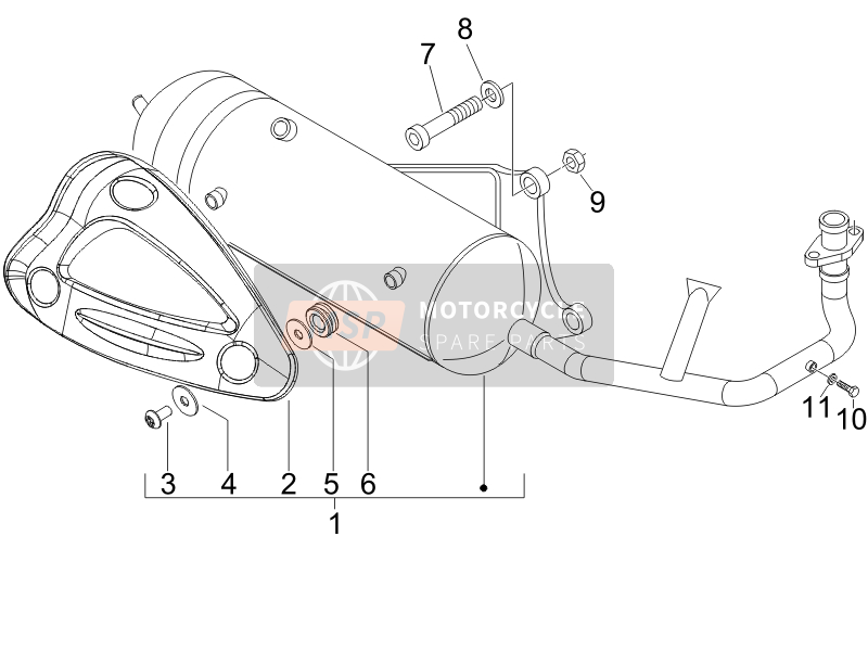 Piaggio NRG Power DT Serie Speciale (D) 2007 Silencer for a 2007 Piaggio NRG Power DT Serie Speciale (D)