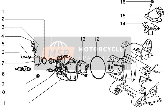 Cylinder head and induction pipe