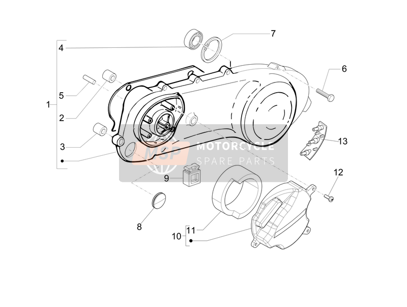 Crankcase cover - Crankcase cooling