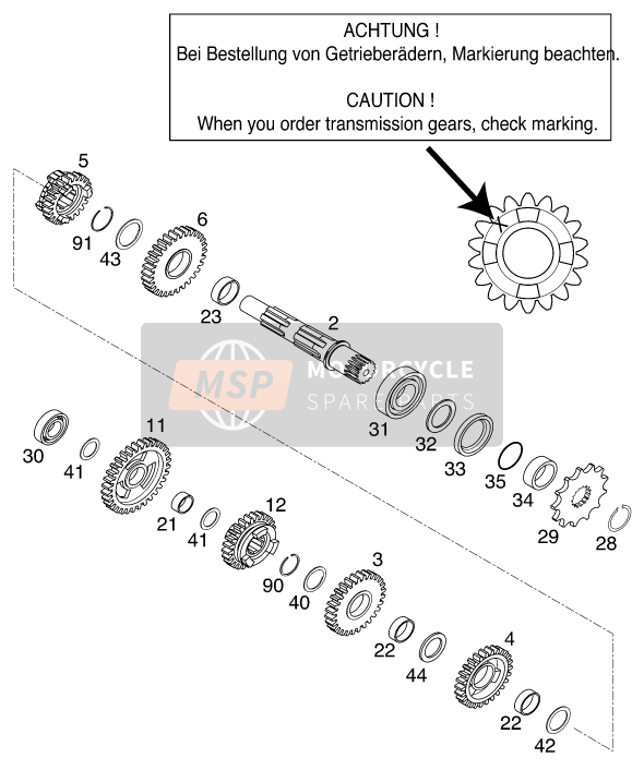 TRANSMISSION II - COUNTERSHAFT