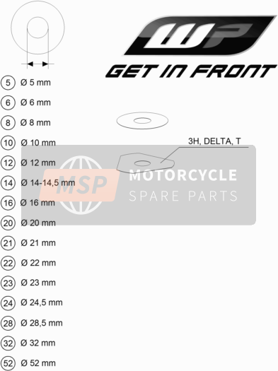 KTM 300 XC-W USA 2018 WP SHIMS FOR SETTING for a 2018 KTM 300 XC-W USA