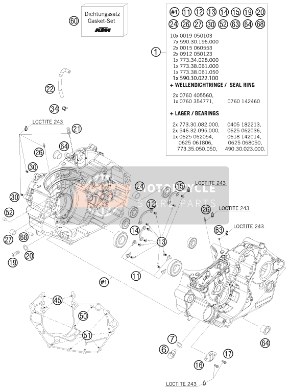 KTM 505 SX ATV Europe 2009 ENGINE CASE for a 2009 KTM 505 SX ATV Europe