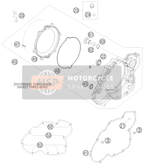 KTM 525 XC ATV Europe 2009 CLUTCH COVER for a 2009 KTM 525 XC ATV Europe