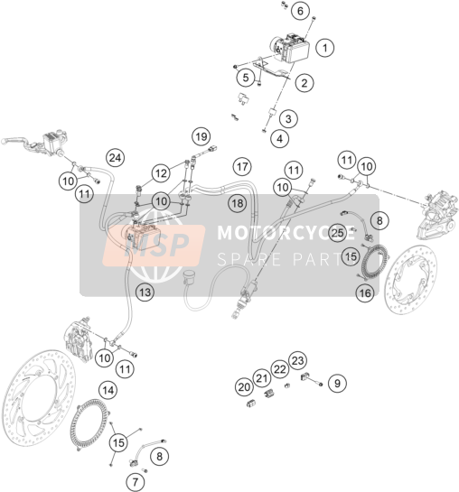 Husqvarna VITPILEN 401, Europe 2018 ANTIBLOCKIERSYSTEM ABS for a 2018 Husqvarna VITPILEN 401, Europe