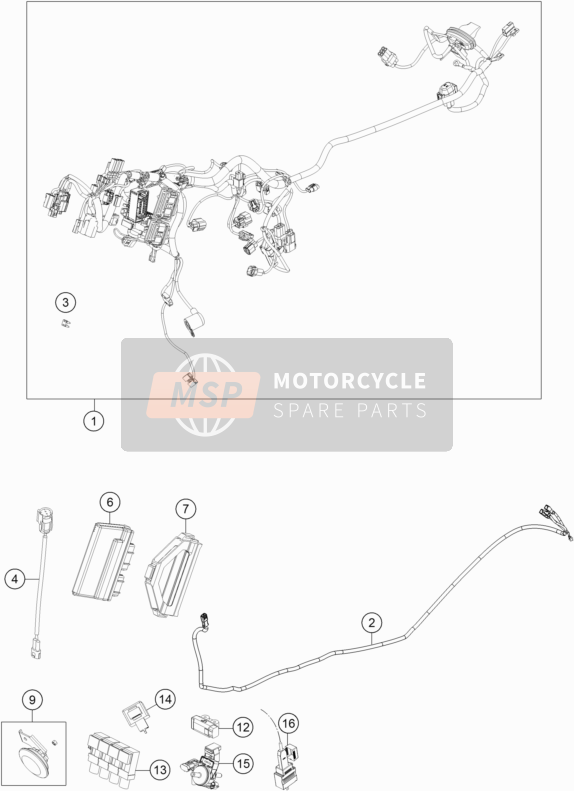 Husqvarna VITPILEN 701, Europe 2018 WIRING HARNESS for a 2018 Husqvarna VITPILEN 701, Europe