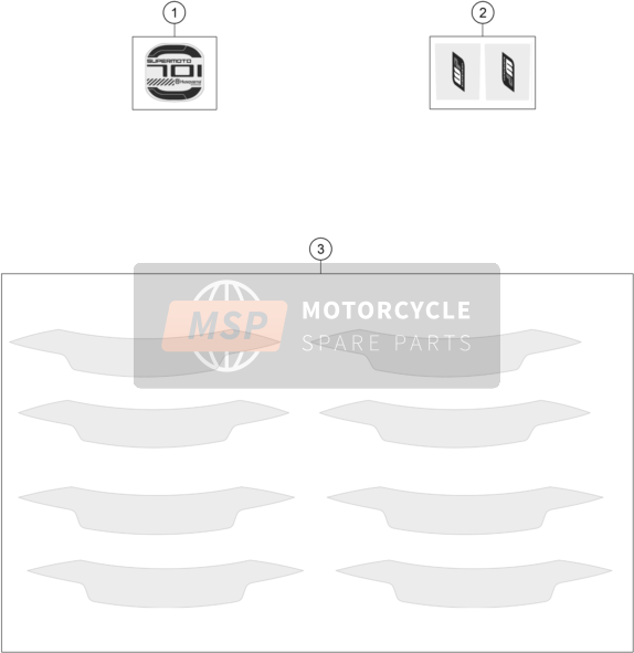 Husqvarna 701 Supermoto, United States 2018 DECAL for a 2018 Husqvarna 701 Supermoto, United States