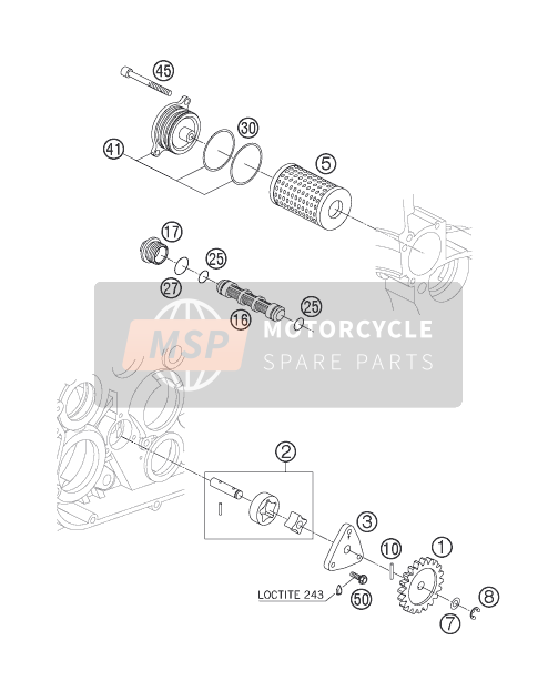 Husaberg FS 650c/6, Europe 2005 LUBRICATING SYSTEM for a 2005 Husaberg FS 650c/6, Europe