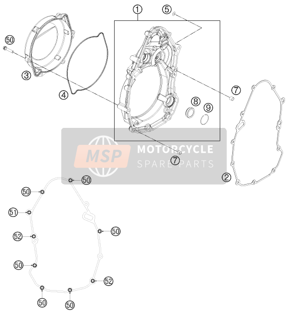 Husaberg FS 570, United States 2011 CLUTCH COVER for a 2011 Husaberg FS 570, United States