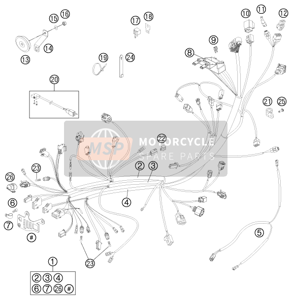 Husaberg FS 570, United States 2011 WIRING HARNESS for a 2011 Husaberg FS 570, United States