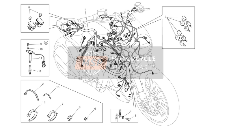 Ducati DIAVEL AMG USA 2013 WIRING HARNESS  for a 2013 Ducati DIAVEL AMG USA