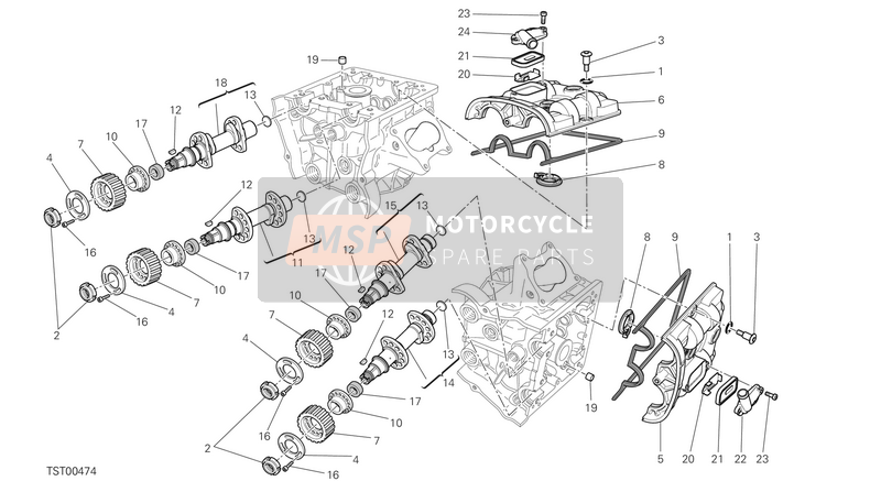 Ducati DIAVEL CARBON FL USA 2018 CAMSHAFT  for a 2018 Ducati DIAVEL CARBON FL USA