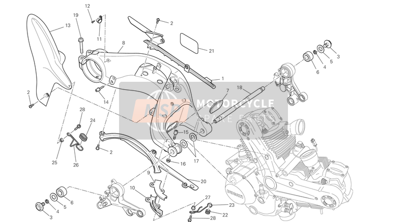 Ducati MONSTER 1100 EVO ABS EU 2013 SWING ARM  for a 2013 Ducati MONSTER 1100 EVO ABS EU