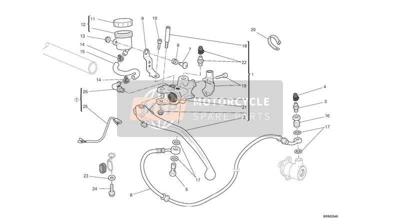 Ducati MONSTER 1100 EVO ABS USA 2013 CLUTCH MASTER CYLINDER  for a 2013 Ducati MONSTER 1100 EVO ABS USA