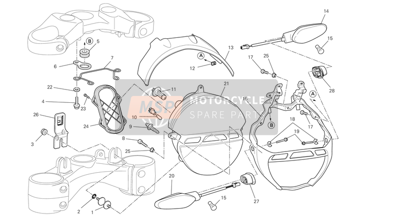 Ducati MONSTER 1100 EVO ABS USA 2013 HEADLIGHT  for a 2013 Ducati MONSTER 1100 EVO ABS USA