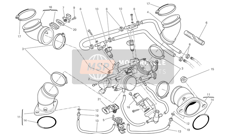 Ducati MONSTER 1100 EVO ABS USA 2013 THROTTLE BODY  for a 2013 Ducati MONSTER 1100 EVO ABS USA