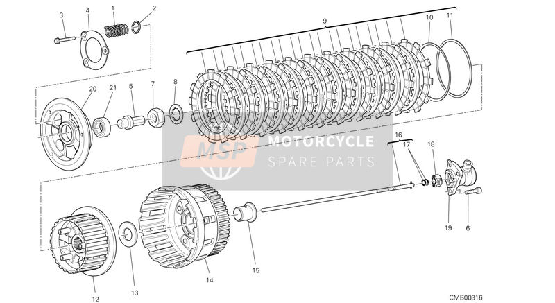 Ducati MONSTER 1200 S USA 2014 CLUTCH  for a 2014 Ducati MONSTER 1200 S USA