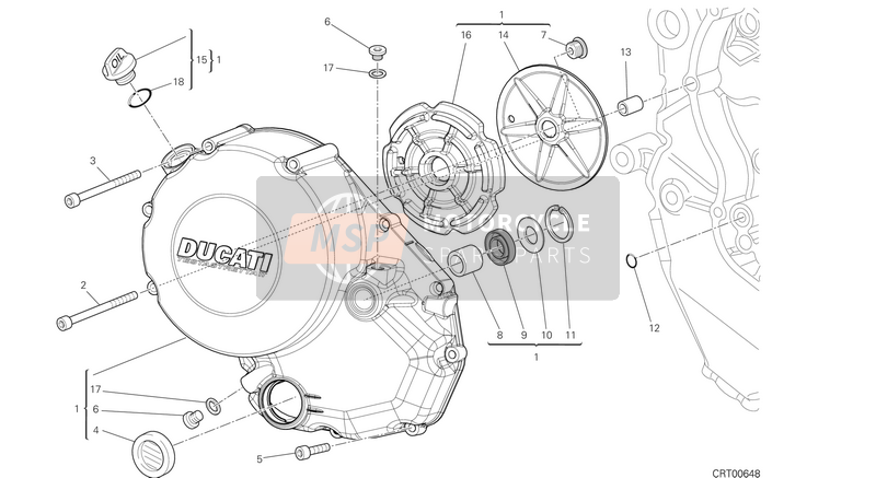 Ducati MONSTER 1200 USA 2014 CLUTCH COVER  for a 2014 Ducati MONSTER 1200 USA