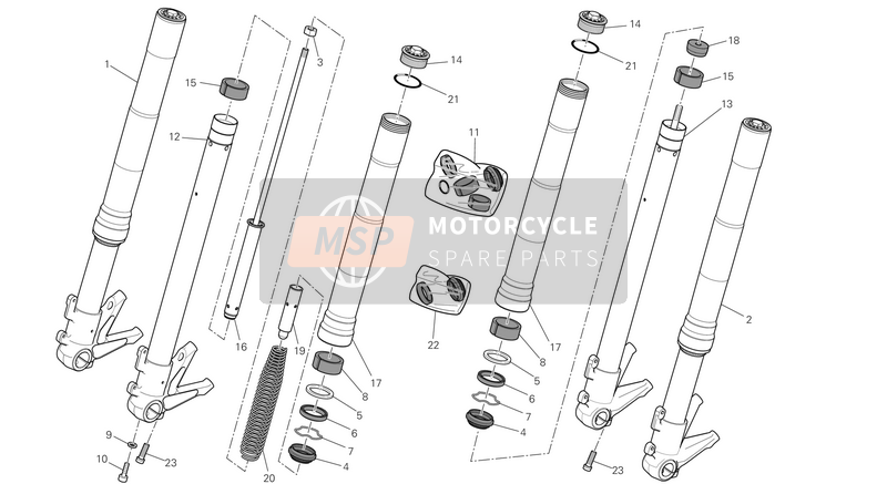 Ducati MONSTER 696 ABS EU 2014 FRONT FORK  for a 2014 Ducati MONSTER 696 ABS EU