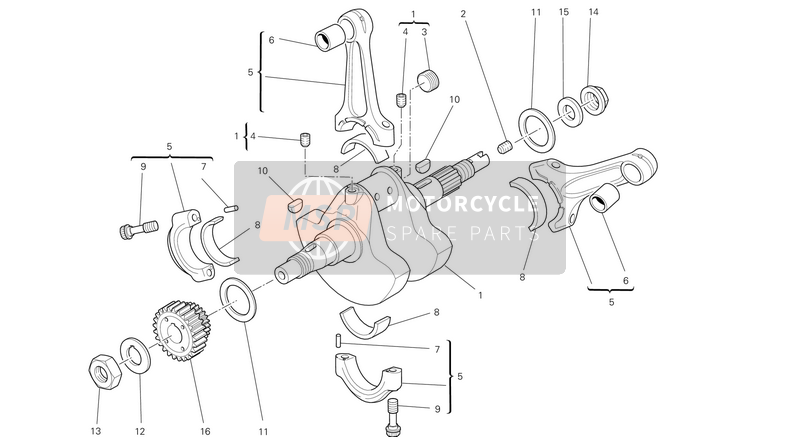 Ducati MONSTER 696 ABS USA 2013 CRANKSHAFT  for a 2013 Ducati MONSTER 696 ABS USA