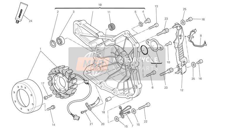 Ducati MONSTER 696 ABS USA 2013 GENERATOR  for a 2013 Ducati MONSTER 696 ABS USA