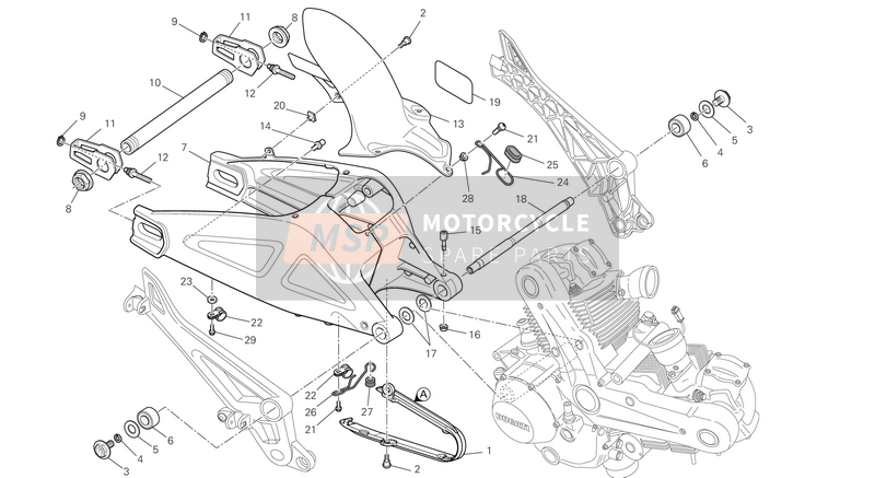 Ducati MONSTER 696 ABS USA 2013 SWING ARM  for a 2013 Ducati MONSTER 696 ABS USA