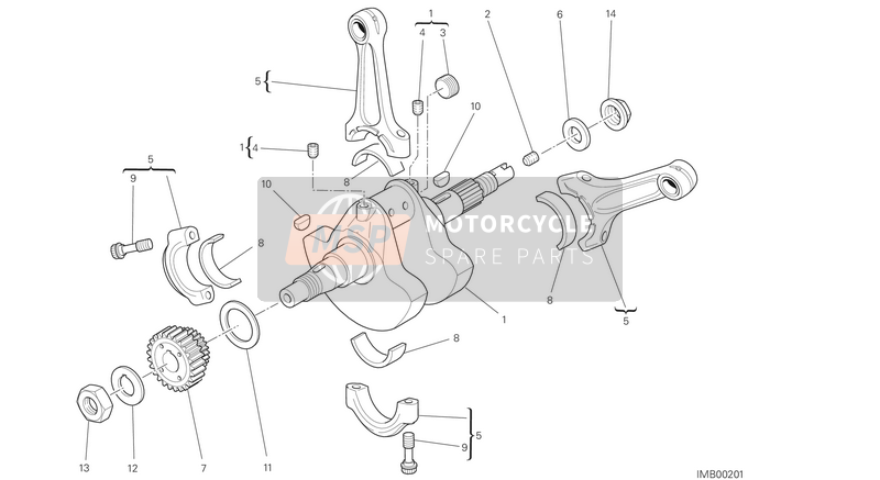 Ducati MONSTER 796 ABS EU 2014 CRANKSHAFT  for a 2014 Ducati MONSTER 796 ABS EU