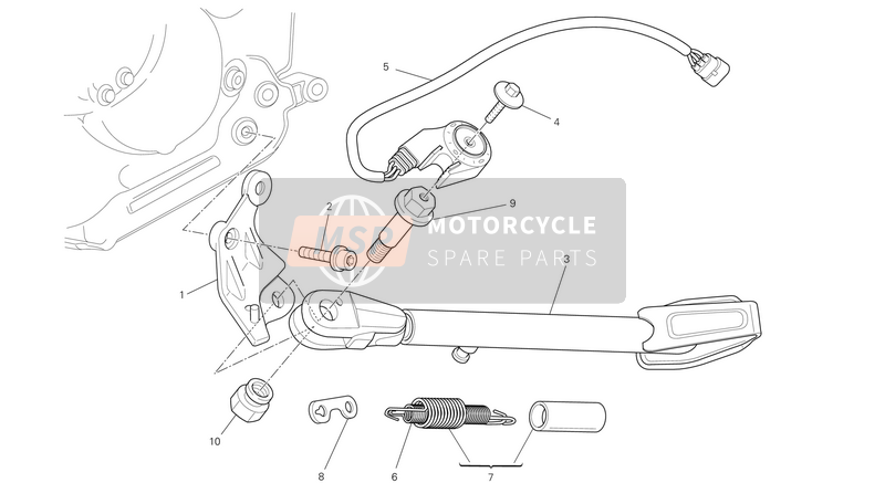 Ducati MONSTER 796 ABS EU 2014 SIDE STAND  for a 2014 Ducati MONSTER 796 ABS EU