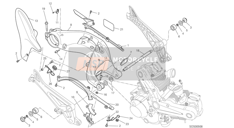 Ducati MONSTER 796 ABS EU 2014 SWING ARM  for a 2014 Ducati MONSTER 796 ABS EU