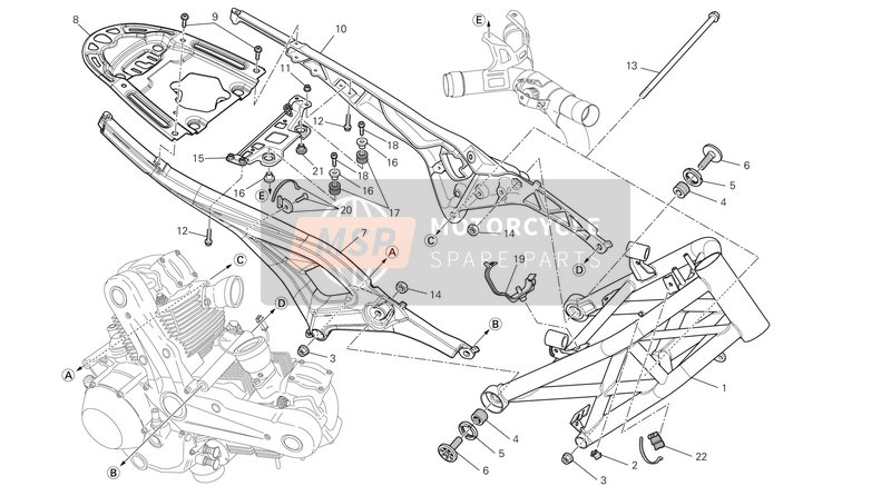 Ducati MONSTER 796 ABS USA 2013 FRAME  for a 2013 Ducati MONSTER 796 ABS USA