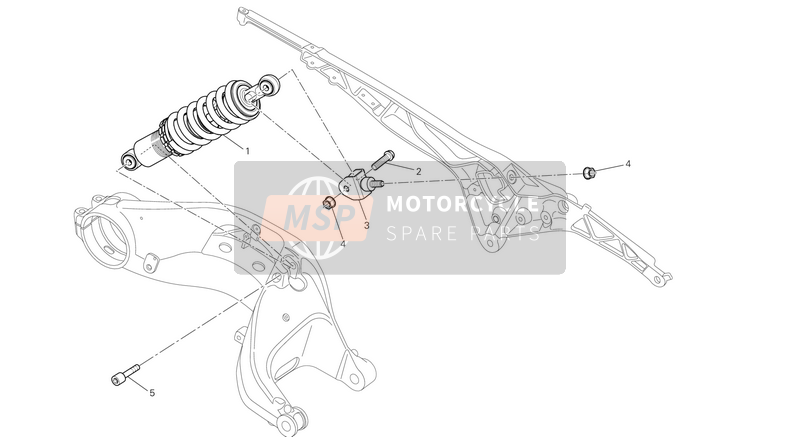 Ducati MONSTER 796 ABS USA 2013 REAR SHOCK ABSORBER  for a 2013 Ducati MONSTER 796 ABS USA