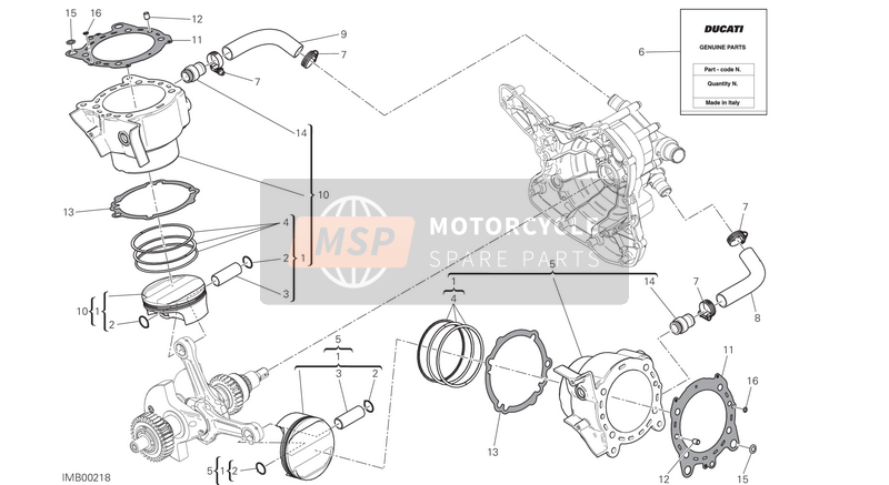 Ducati MULTISTRADA 1200 S ABS USA 2016 CYLINDERS - PISTONS for a 2016 Ducati MULTISTRADA 1200 S ABS USA