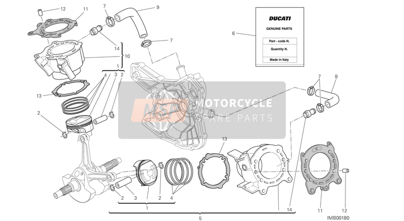 Ducati MULTISTRADE 1200 ABS USA 2014 CYLINDER - PISTON for a 2014 Ducati MULTISTRADE 1200 ABS USA