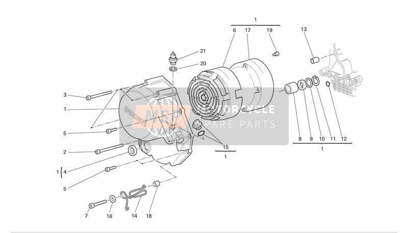 Clutch-side crankcase cover