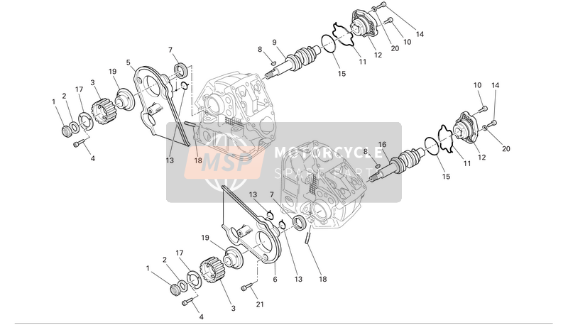 Cylinder head : timing system