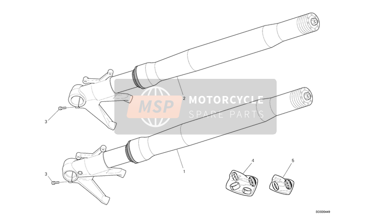 Ducati STREETFIGHTER 1098 S EU 2013 FRONT FORK  for a 2013 Ducati STREETFIGHTER 1098 S EU
