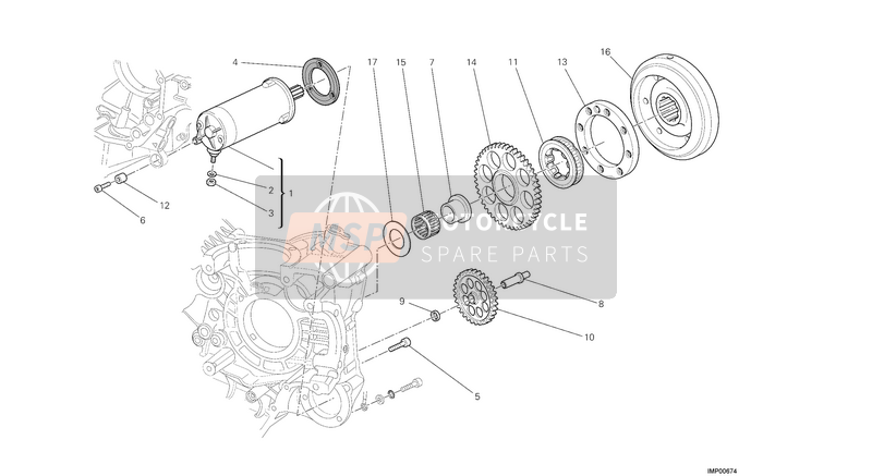 Ducati STREETFIGHTER 1098 S EU 2013 STARTING MOTOR  for a 2013 Ducati STREETFIGHTER 1098 S EU