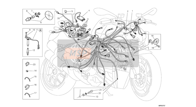 Ducati STREETFIGHTER 1098 S EU 2013 WIRING HARNESS  for a 2013 Ducati STREETFIGHTER 1098 S EU