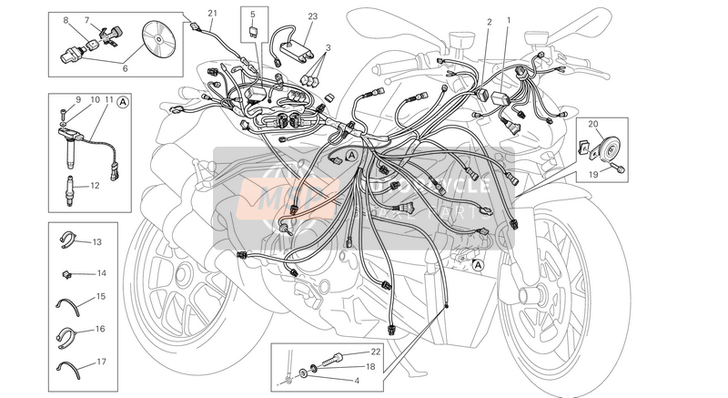 Ducati STREETFIGHTER 848 EU 2013 WIRING HARNESS  for a 2013 Ducati STREETFIGHTER 848 EU